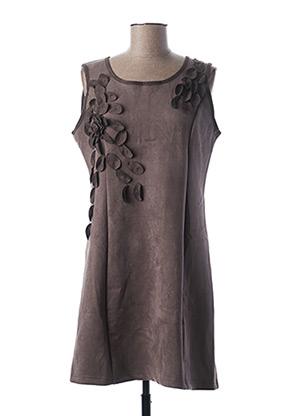 Robe mi-longue gris L33 pour femme