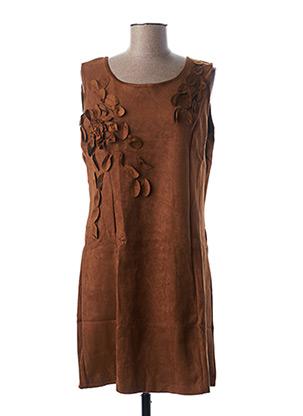 Robe mi-longue marron L33 pour femme