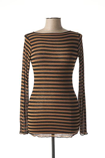 T-shirt manches longues marron B.YU pour femme