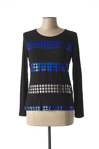 T-shirt manches longues noir ELEONORA AMADEI pour femme