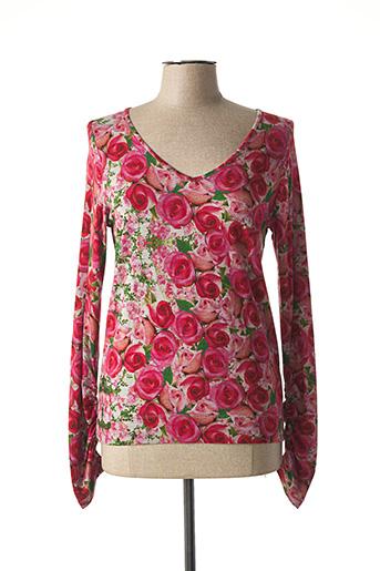 T-shirt manches longues rose CAP JULUCA pour femme