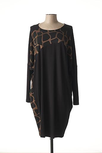 Robe mi-longue noir ALEMBIKA pour femme