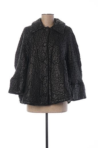 Manteau court noir ALEMBIKA pour femme