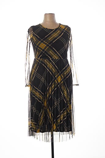 Robe mi-longue jaune B.YU pour femme