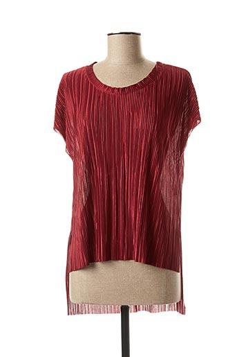 Blouse manches courtes rouge ALYSSA pour femme