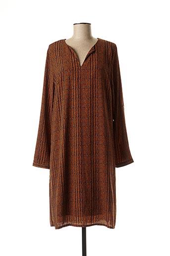 Robe mi-longue orange AKOZ DE TOI pour femme