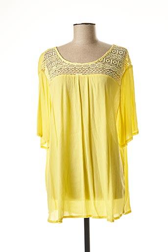 Tunique manches longues jaune NOOGAT pour femme