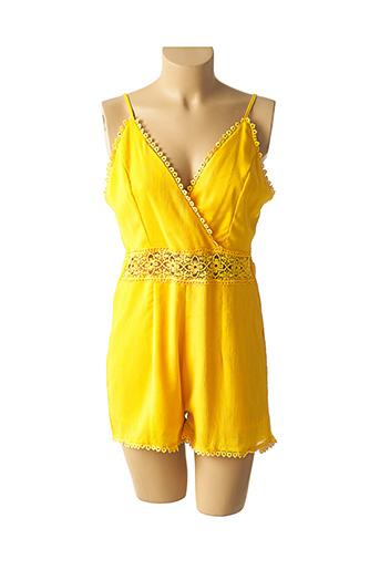 Combishort jaune JOWELL pour femme