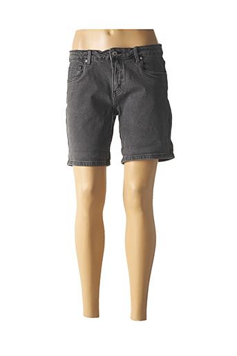 Short gris R.DISPLAY pour femme