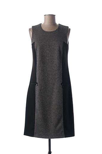 Robe mi-longue gris GUY DUBOUIS pour femme