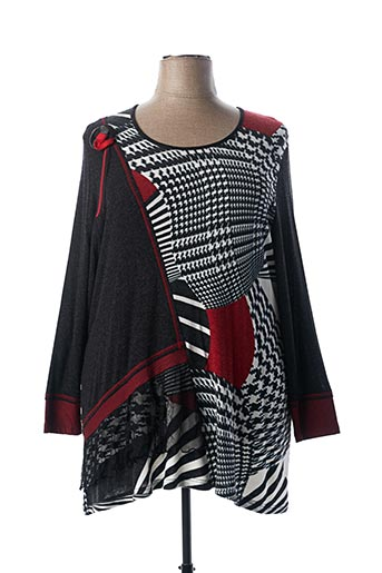 Pull col rond rouge GUY DUBOUIS pour femme