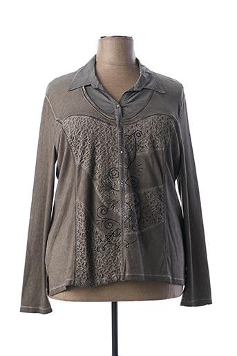 T-shirt manches longues marron BAGORAZ pour femme