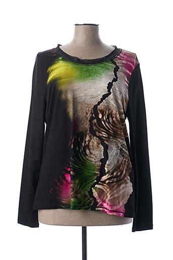 T-shirt manches longues noir FRANCK ANNA pour femme