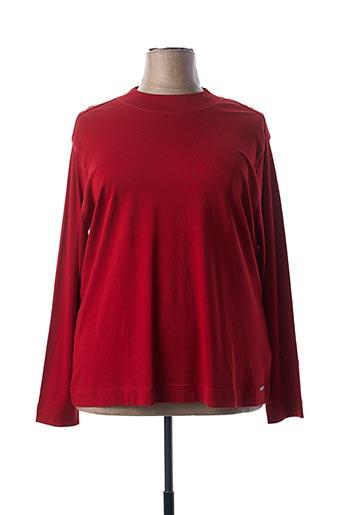 T-shirt manches longues rouge BRANDTEX pour femme