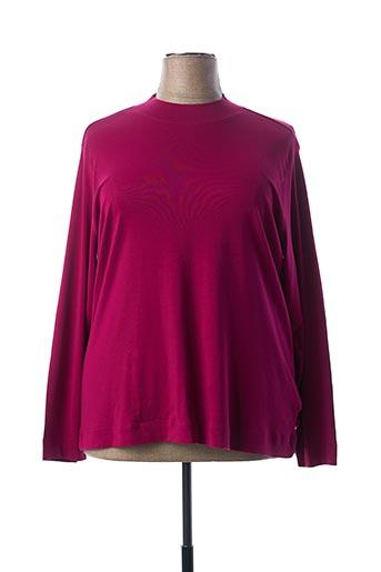 T-shirt manches longues violet BRANDTEX pour femme