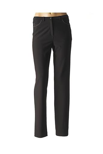 Pantalon casual noir GUY DUBOUIS pour femme