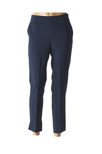 Pantalon chic bleu FILLE A SUIVRE pour femme