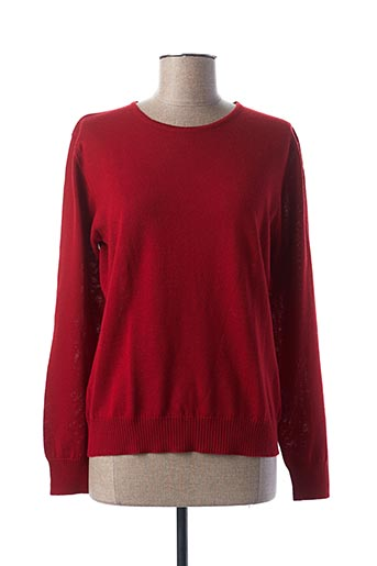 Pull col rond rouge DANEVA pour femme