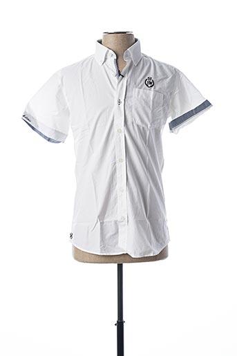 Chemise manches courtes blanc BLACK WELLIS pour homme