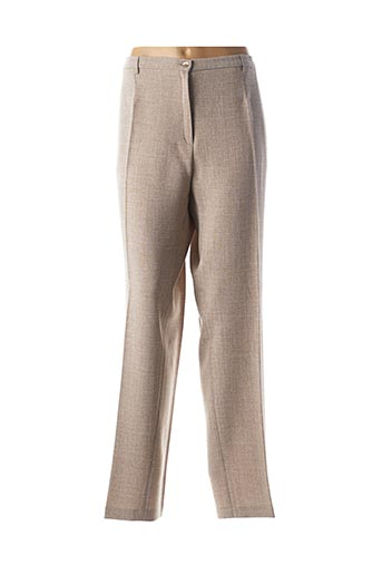Pantalon casual beige FRANCE RIVOIRE pour femme