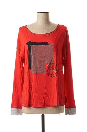 T-shirt manches longues rouge ELISA CAVALETTI pour femme