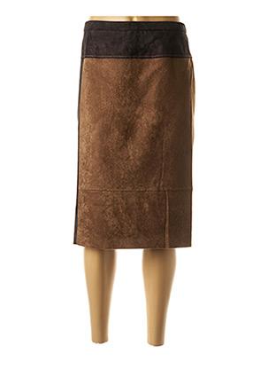 Jupe mi-longue marron PAUPORTÉ pour femme