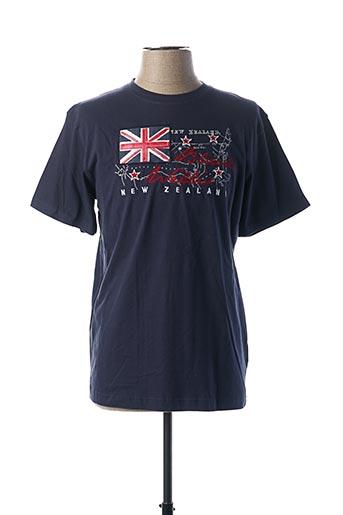 T-shirt manches courtes bleu BLACK WELLIS pour homme
