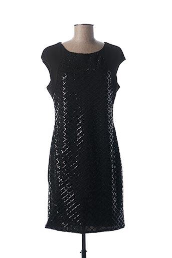 Robe courte noir QUATTRO pour femme