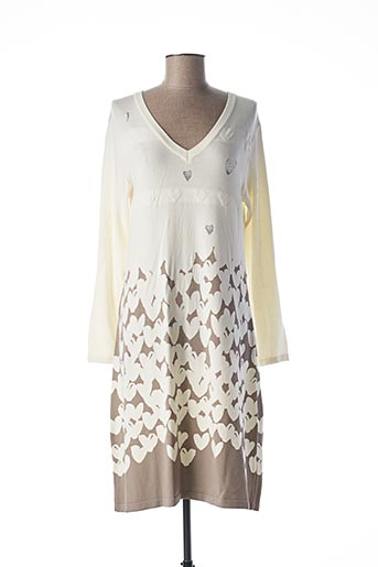 Robe pull blanc FUEGO WOMAN pour femme