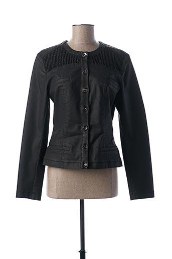 Veste simili cuir noir FUEGO WOMAN pour femme