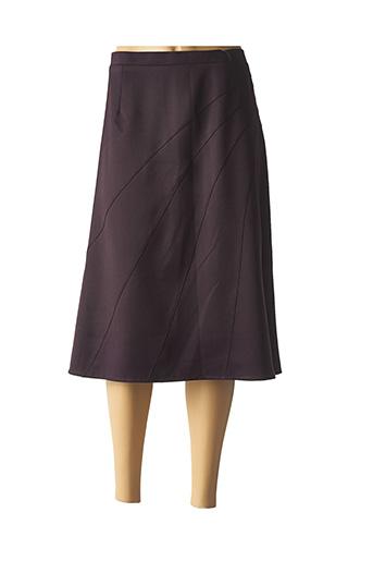 Jupe mi-longue violet GRIFFON pour femme