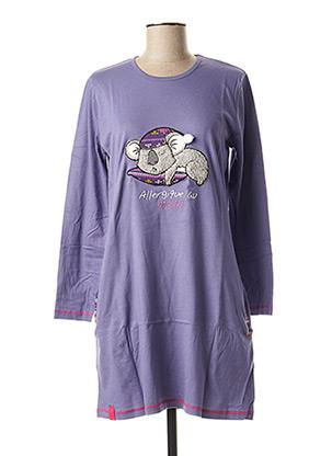 Chemise de nuit violet ROSE POMME pour femme