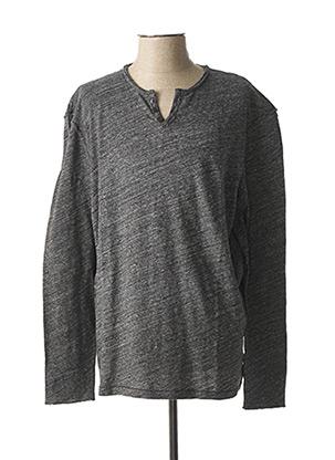T-shirt manches longues gris HARRIS WILSON pour homme