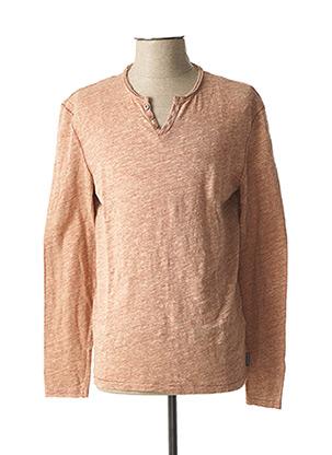 T-shirt manches longues orange HARRIS WILSON pour homme