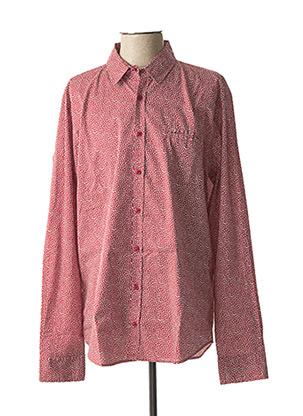 Chemise manches longues rouge HARRIS WILSON pour homme