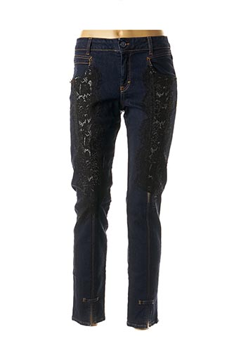Pantalon casual bleu ELISA CAVALETTI pour femme