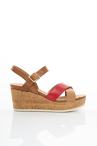 Sandales/Nu pieds rouge KARSTON pour femme
