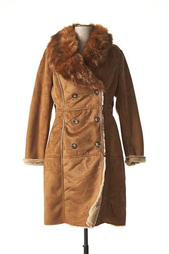 Manteau long marron MOLLY BRACKEN pour femme