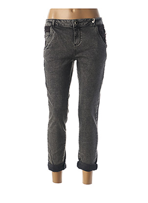 Jeans coupe slim gris BSB pour femme