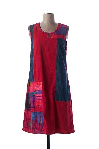 Robe mi-longue rouge AURA BY FIGURE LIBRE pour femme