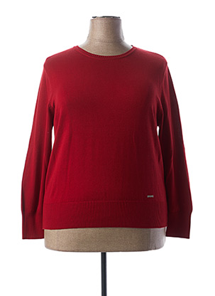 Pull col rond rouge AGATHE & LOUISE pour femme