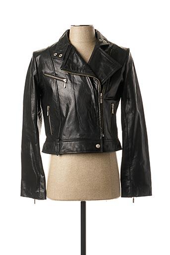 Veste en cuir noir ALFRED NONO pour femme
