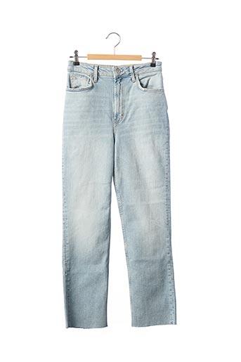 Jeans coupe droite bleu FREE PEOPLE pour femme