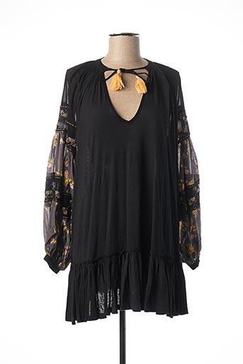 Robe courte noir FREE PEOPLE pour femme