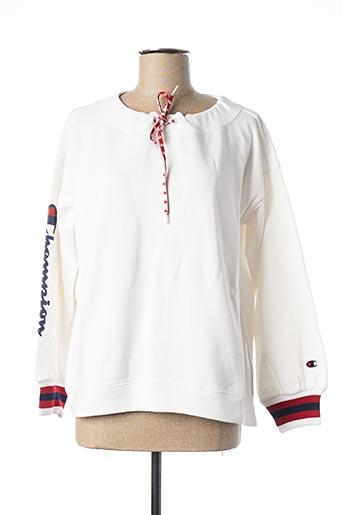 Sweat-shirt blanc CHAMPION pour femme