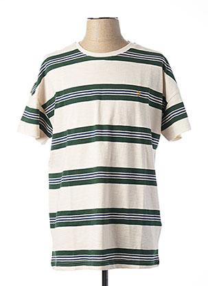 T-shirt manches courtes vert FARAH VINTAGE pour homme