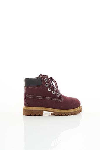 Bottines/Boots rouge TIMBERLAND pour garçon