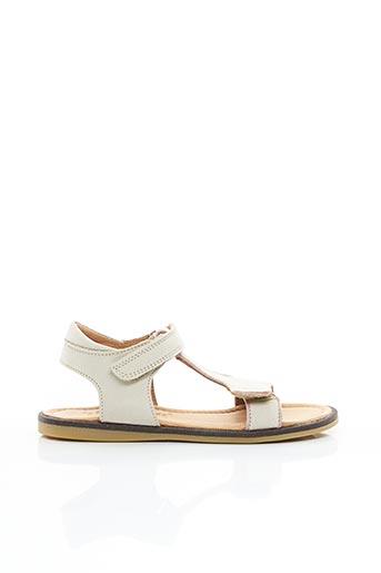 Sandales/Nu pieds beige BISGAARD pour fille