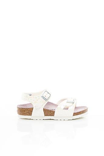 Sandales/Nu pieds blanc BIRKENSTOCK pour fille