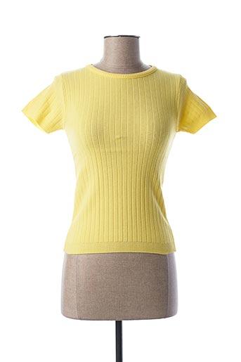 T-shirt manches courtes jaune TEENFLO pour femme